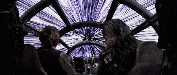 Han-Solo and Chewbacca are seasoned hyperspace users in the film Star Wars.