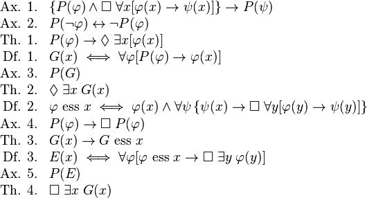 Godel's modal logic proof