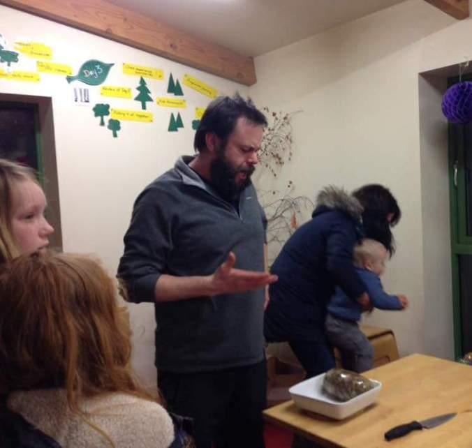 Clelland addressing the haggis