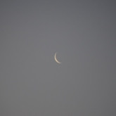 Thin waning crescent Moon