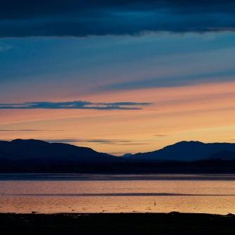Solstice sunset from the Bunchrew shoreline
